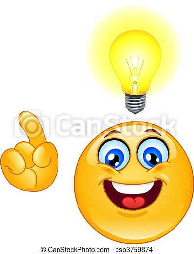 emoticon, idée - csp3759874