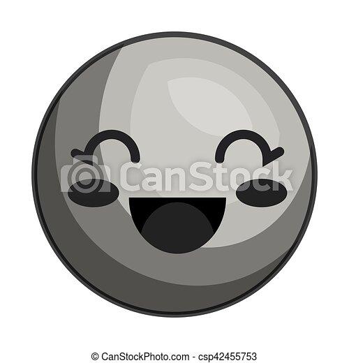 emoticon kawaii style icon - csp42455753