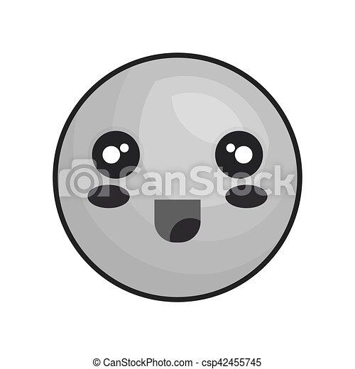 emoticon kawaii style icon - csp42455745