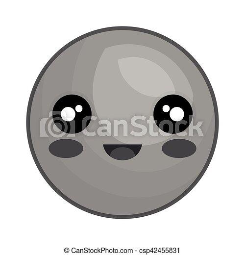 emoticon kawaii style icon - csp42455831