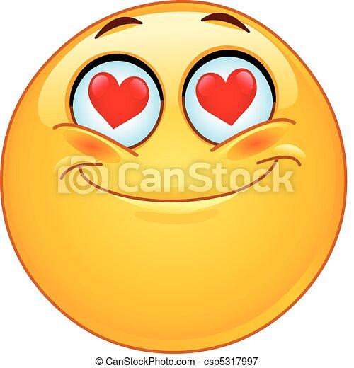 emoticon, láska - csp5317997