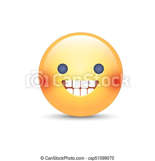 Emoticon Mood Faccia Bocca Sweat Sorridente Aperto Freddo