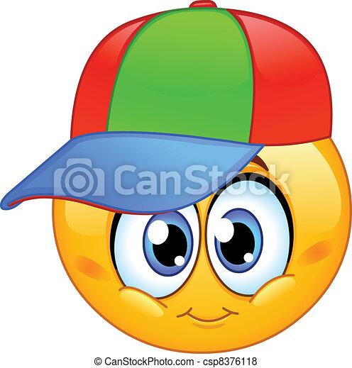 emoticon, niño - csp8376118