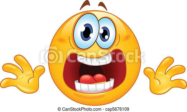 emoticon, pânico - csp5676109