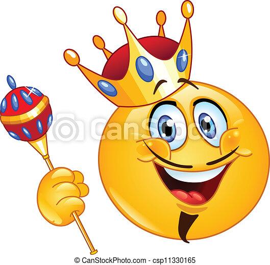 El rey Emoticon - csp11330165