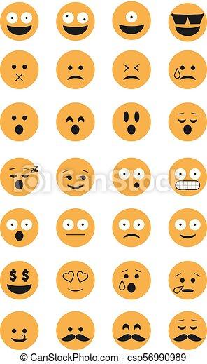 emoticon, set, vector. - csp56990989