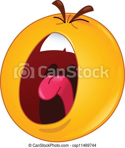 emoticon, skrikande - csp11469744