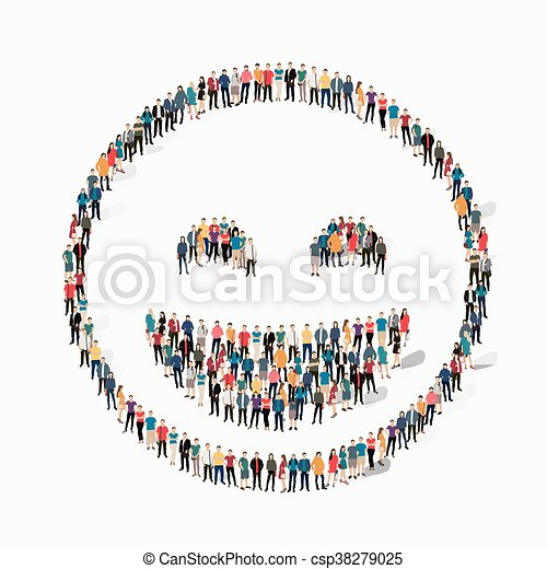 emoticon, smiley, emberek, ikon - csp38279025