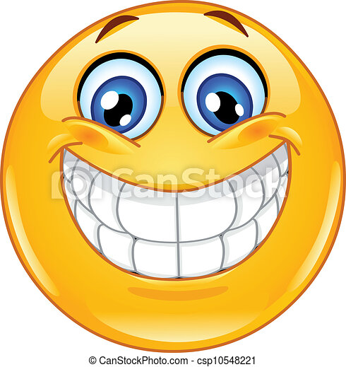 emoticon, sonrisa grande - csp10548221