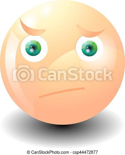 emoticon, sorpresa, grimacing - csp44472877