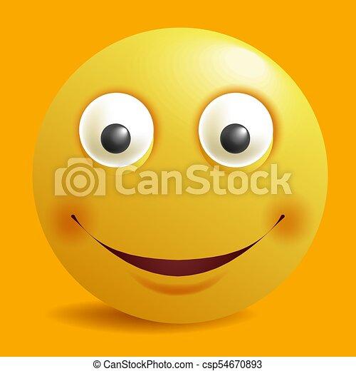 Emoticon Sourires Plat Smiley Jaune Vecteur Conception Constructeur Sourire Emoji Dessin Animé Icône