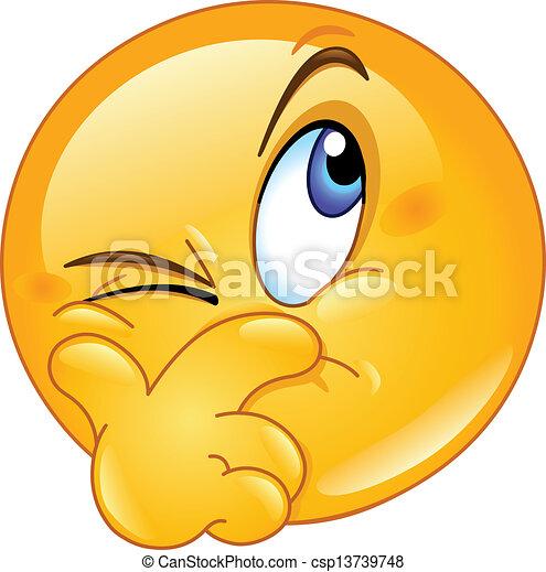 Sospechoso de emoticon - csp13739748