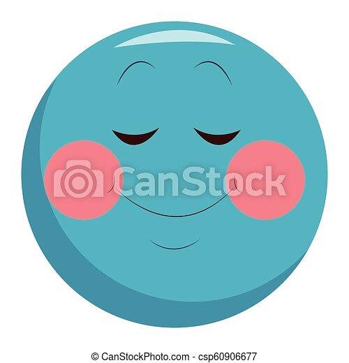 Emoticon de sonrisa tímida - csp60906677