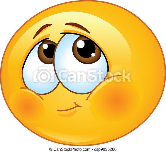 emoticon, tímido - csp9036266