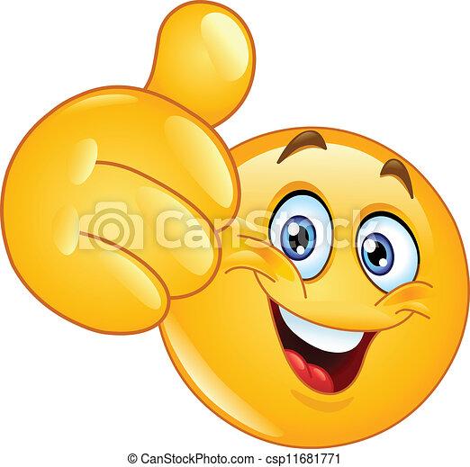 emoticon, tumme uppe - csp11681771
