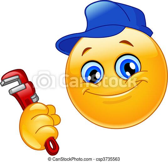 emoticon, vízvezeték szerelő - csp3735563