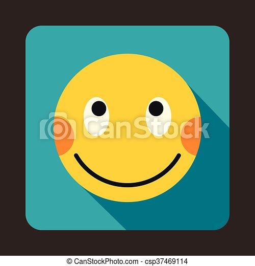 Smiley mit roten backen