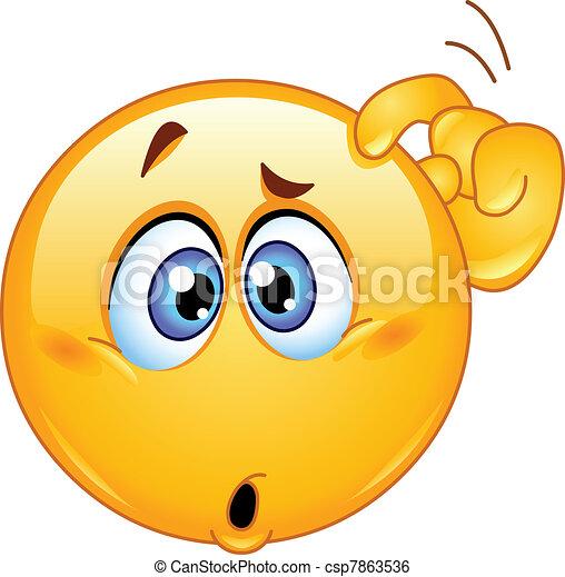 Verwirrtes Emoticon - csp7863536