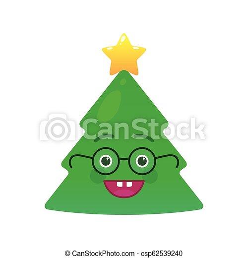 Symbol Weihnachtsbaum.Emoticon Weihnachtsbaum Freigestellt Streber