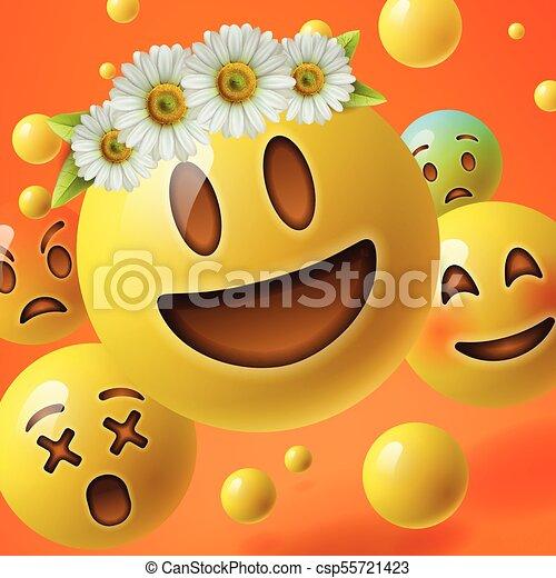 Emoticon blume  ⚡ Rainbow Loom 3D Flower(Hibiscus) Charms emoji