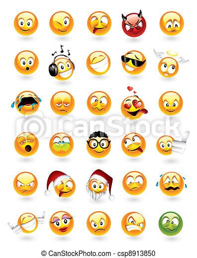 Un conjunto de 30 emoticonos - csp8913850
