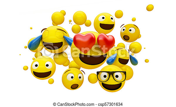 emoticons group isolated - csp57301634