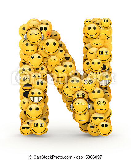 Emoticons Letter N Letter N Compiled From Emoticons Smiles With
