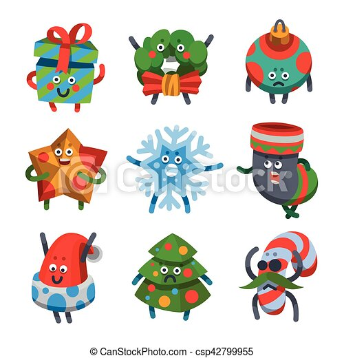 emoticons set icons for happy new year theme csp42799955
