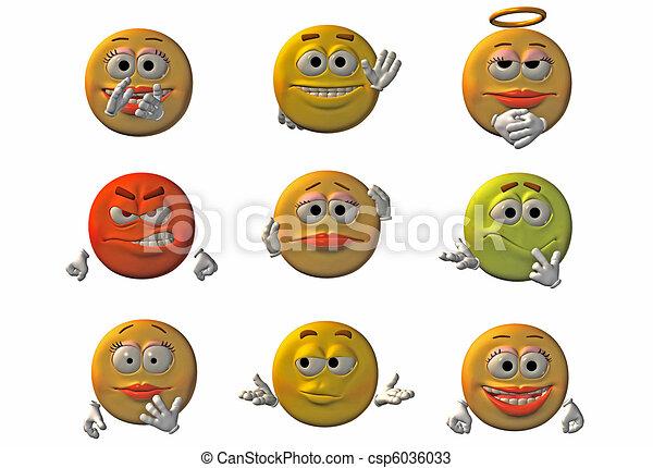 Emoticons - smileys - csp6036033