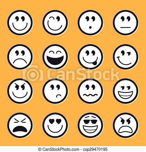 Emoticons stock vector - csp29470195