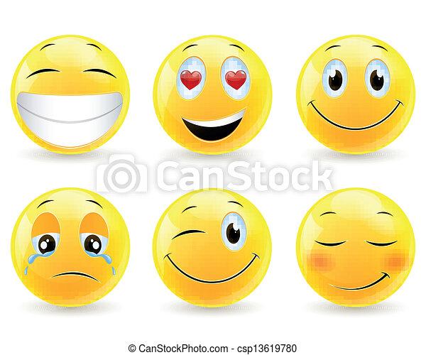 emoticons, vetorial - csp13619780