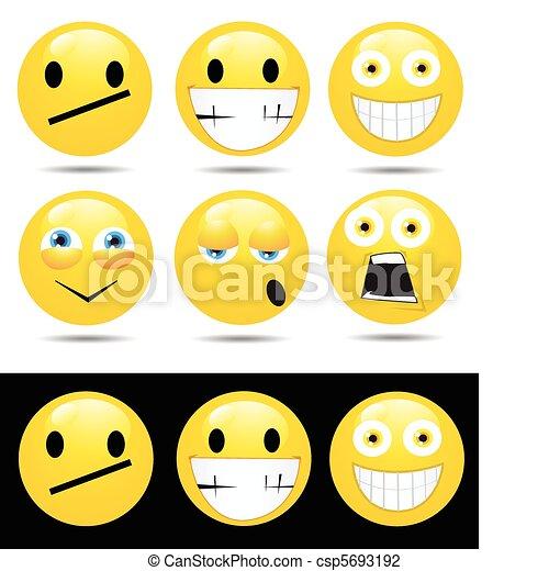 emoties, karakters, gele - csp5693192