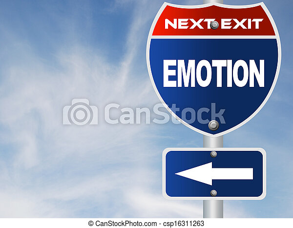Emotion road sign  - csp16311263