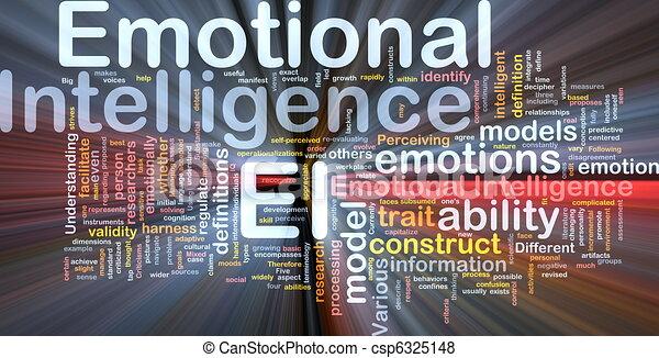 Emotional intelligence background concept glowing - csp6325148