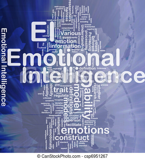 Emotional intelligence background concept - csp6951267