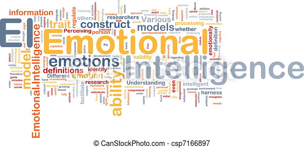 Emotional intelligence background concept - csp7166897