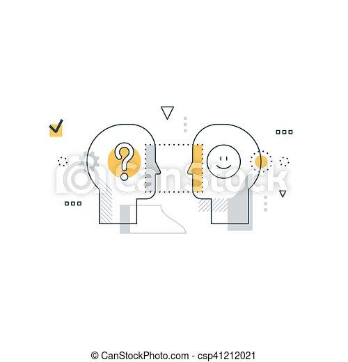 Emotional intelligence concept, communication skills, reasoning and persuasion - csp41212021