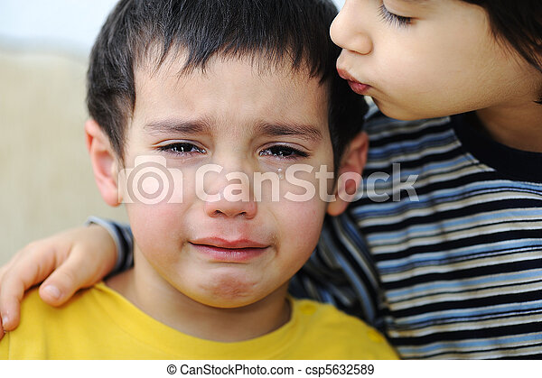 emotional, kind, szene, weinen - csp5632589