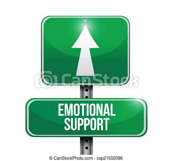 emotionele steun, ontwerp, illustratie, meldingsbord - csp21502096