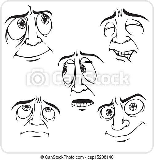 Emotions - vector set. - csp15208140