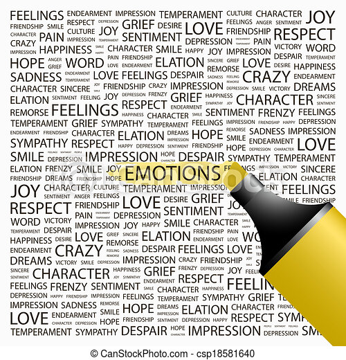 emotions. - csp18581640
