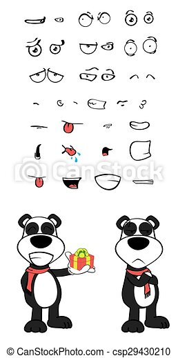 Emotions1 Teddy Dessin Animé Ours Panda