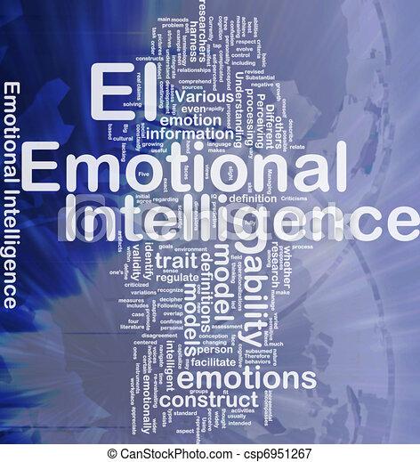 emotivo, concetto, fondo, intelligenza - csp6951267
