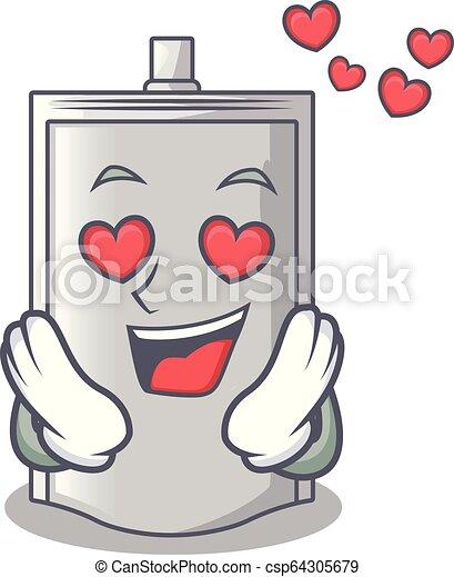 En una bolsa de amor empaquetando para azúcar en el personaje - csp64305679