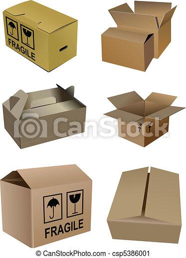 Un juego de cajas de envases de cartón - csp5386001