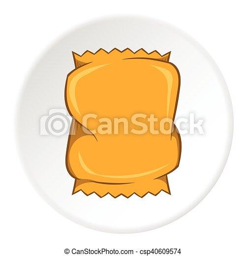 icono empacado arrugado, estilo de dibujos animados - csp40609574
