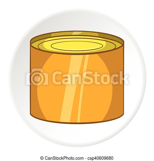 Tin Packaging icono, estilo de dibujos animados - csp40609680