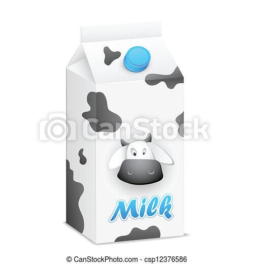 Envases de leche - csp12376586