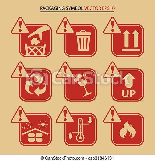 Símbolo de embalaje, icono vector - csp31846131