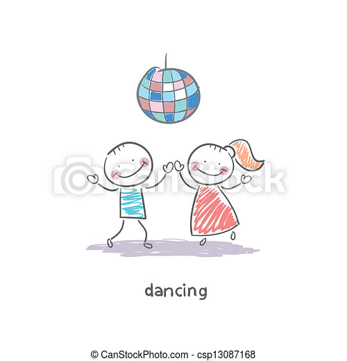 Una pareja de baile - csp13087168